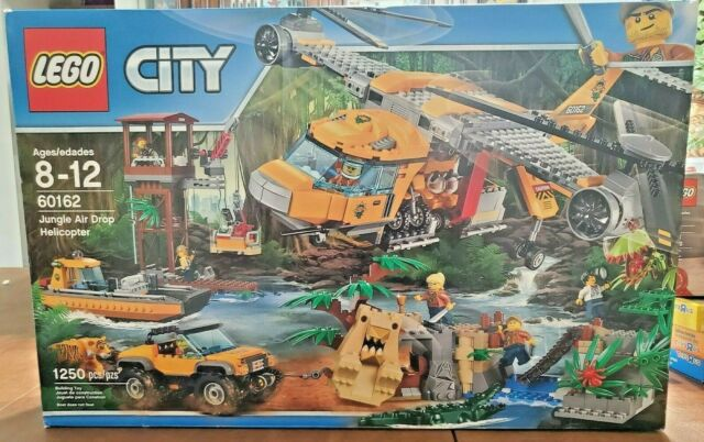 NEW SEALED LEGO CITY 60162 JUNGLE AIR DROP HELICOPTER W/TIGER (DISCONTINUED)