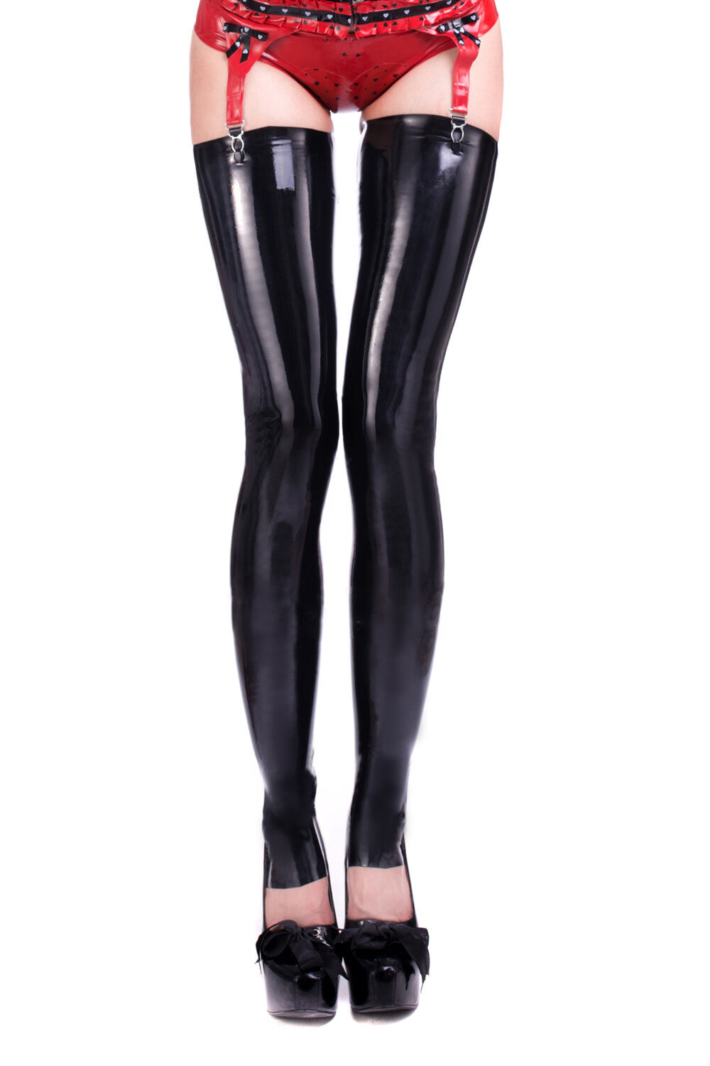 R1699 Footless Latex Unisexe Bas Tailoruge secondes   -