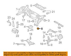 volvo oem 10 14 xc90 rear suspension trailing arm front bushing rh ebay com volvo s60 front suspension diagram volvo v50 rear suspension diagram