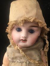 Poupée Tête Porcelaine Yeux Bleu Ancienne Old Doll A identifier Sans Marque