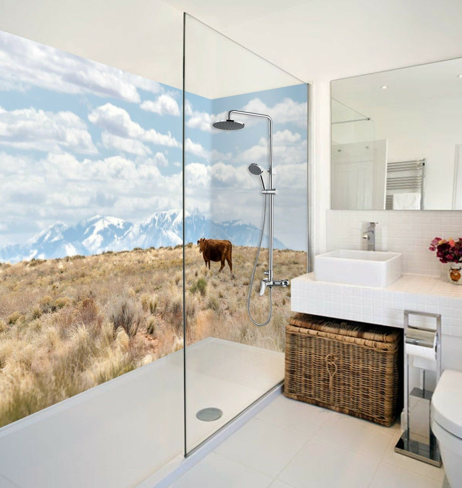 3D Grassland Cattle 435 WallPaper Bathroom Print Decal Wall Deco AJ WALLPAPER AU