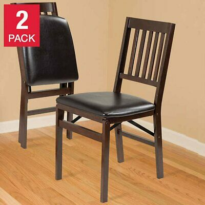 Stakmore Solid Wood Folding Chair 2 Pack Steel Folding