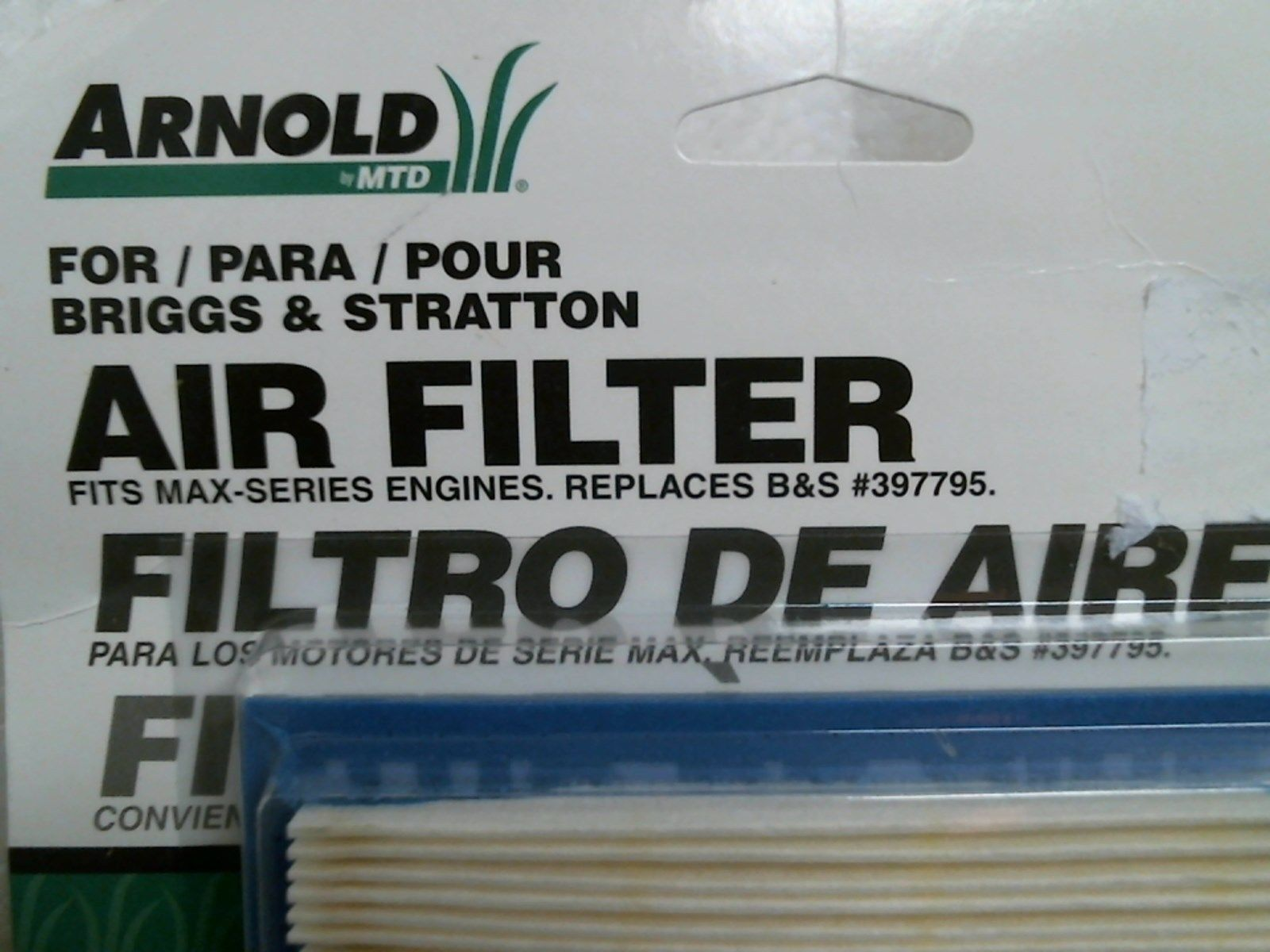 NEW REPLACEMENT  AIR FILTER FITS BRIGGS ENGINES  397795 397795S 2PK