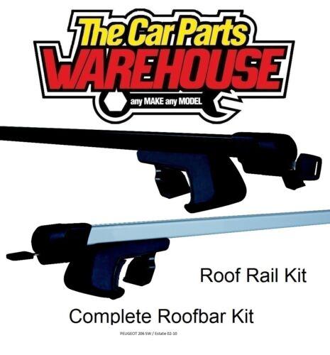 Full Roof Rack Bar Kit SUM520 Mountney WITH RAILS PEUGEOT 206 SW Estate 02-10