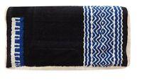 Showman 24 X 24 Pony Saddle Pad W/ Blue Wool Design & Fleece Bottom Tack