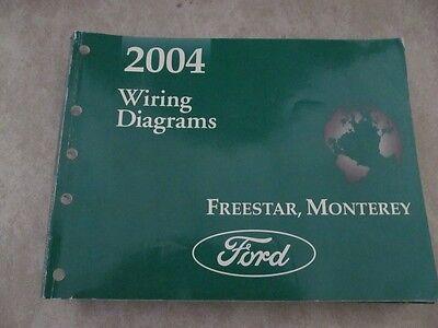 2004 ford freestar mercury monterey service manual electrical wiring  diagram  ebay