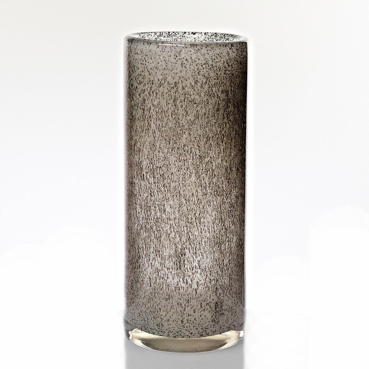 Vase Blaumenvase BUBBLE grau pat., H=30cm (ART GLASS by CRISTALICA) GW04687