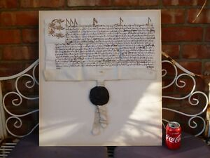c1558-Elizabeth-I-Great-Seal-of-MARY-Tudor-THURLAND-CASTLE-Manuscript-Document