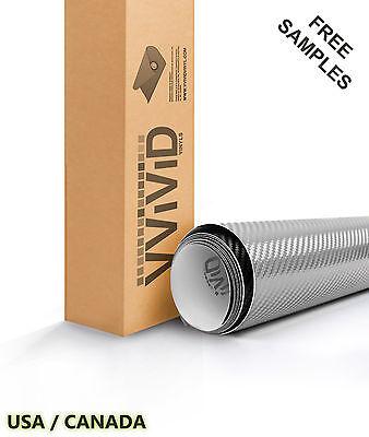 Carbon Fiber Silver Car Wrap Vinyl Film VViViD SILCF3M01 Air Release Tech
