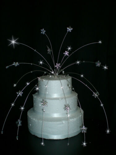 Crystal Hearts or Butterfly or Snowflake design cake topper