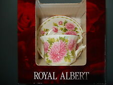 Royal Albert NOVEMBER Flower of the Month Cup and Saucer 2002 Box
