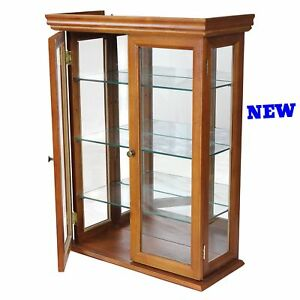 Merveilleux Image Is Loading Small Curio Cabinet Wall Mount Display Glass Shelf