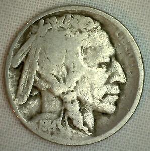 1914-Buffalo-Indian-Head-Nickel-5-Cent-US-Type-Coin-G-Good