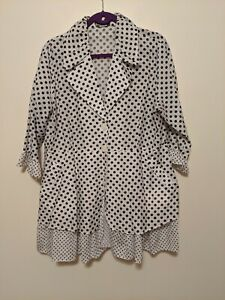 Damee-XL-Black-White-Polka-Dot-Dressy-Jacket