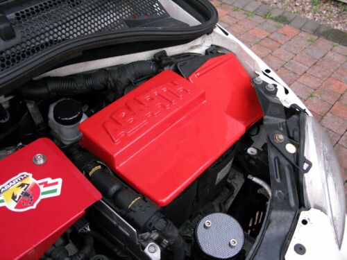FIAT 500 ABARTH  RED PLASTIC FUSE LID COVER