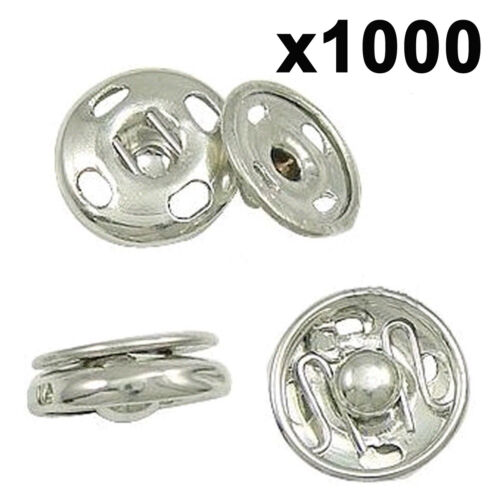 Metal snap fastener spring press studs popper button sew on sewing rivet fabric