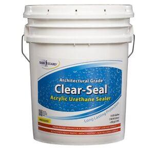 Rainguard Clear Seal High Gloss Urethane Acrylic Sealer 5gal Concrete Wood Brick Ebay