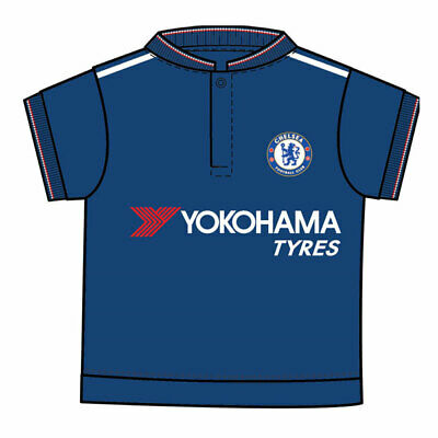 finest selection fbae0 304e1 Official Chelsea Football Club Baby Away Kit T-Shirt Core Design Age 6-9  Months | eBay