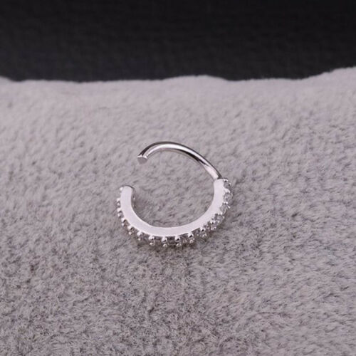 Small Septum Ring Piercing Nose Ear Cartilage Tragus Helix Piercing Clicker Eter