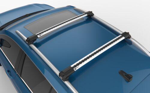 Nissan Qashqai Gris Verrouillable Anti Vol Barres transversales Barre de Toit Rack Rails 2014 sur
