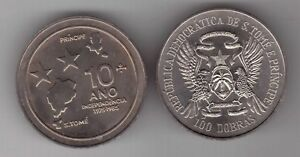 ST-TOME-THOMAS-amp-PRINCE-RARE-100-DOBRAS-UNC-COIN-1985-KM-42-10th-INDEPENDENCE