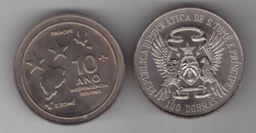 RARE 100 DOBRAS UNC COIN 1985 KM#42 10th INDEPENDENCE ST TOME THOMAS /& PRINCE