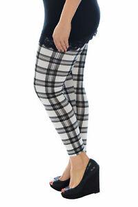 Nouveau Haut Leggings Plus Taille Femmes Tartan Carreaux Jegging Pantalon Nouvelle-afficher Le Titre D'origine