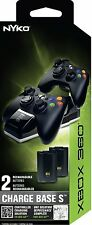 Nyko Charge Base S For Xbox 360 includes 2 Rechargeable Batteries - 86074-M27
