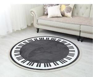 round piano area rug floor music studio room cafe carpet | ebay