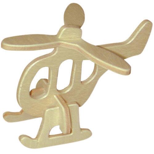 Helikopter Holzbausatz Flugzeug Flieger Holz Steckpuzzle Holzpuzzle Kinder Bauen