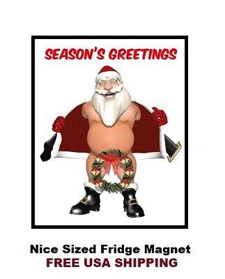 MERRY CHRISTMAS SANTA FRIDGE MAGNET