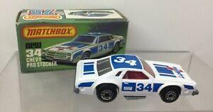 Lesney Matchbox series 75 Chevy PRO STOCKER NEW 34-nella scatola originale