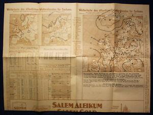 Original-Wetterkarte-des-oeffentlichen-Wetterdienstes-Sachsen-1924-Saxonica-sf