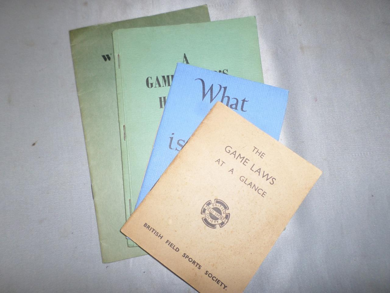 Vintage 1960s British Campo Sports sociedad Manuales-gamekeeping Pesca Tiro