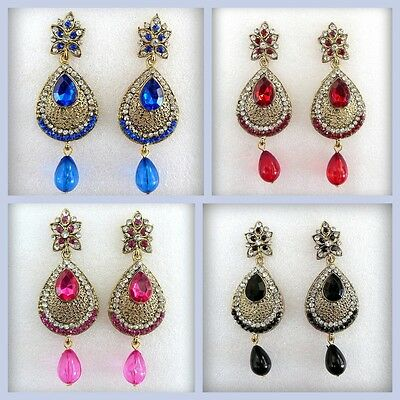 Designer Indian Bollywood Jewelry Gold Plated Ethnic Bridal Wedding Earrings