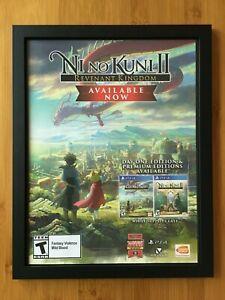 Ni No Kuni 2 II: Revenant Kingdom Framed Print Ad/Poster Promo Art Studio Ghibli