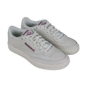 Detalles acerca de Reebok Club C 85 DV3895 para Hombre de Cuero Blanco Casual Zapatos Con Cordones LOW TOP SNEAKERS mostrar título original