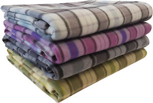 Tartan-Fleece-Blanket-Sofa-Throw-Bed-Throwover-Cover-EXTRA-Large-Sizes-In-Stock