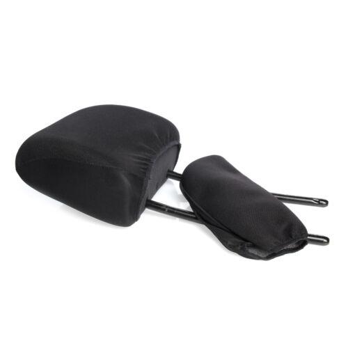 Kopfstützen Bezug 2 Stück Universal Schwarz Kopfstützenbezug