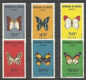 Timbres-Papillons-Senegal-226-31-lot-1795