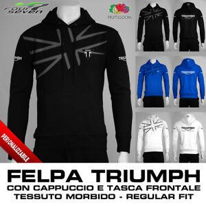 Con Speed Felpa Cappuccio Maglia Uomo Street Bonneville Triple Maglietta Triumph dqXw41