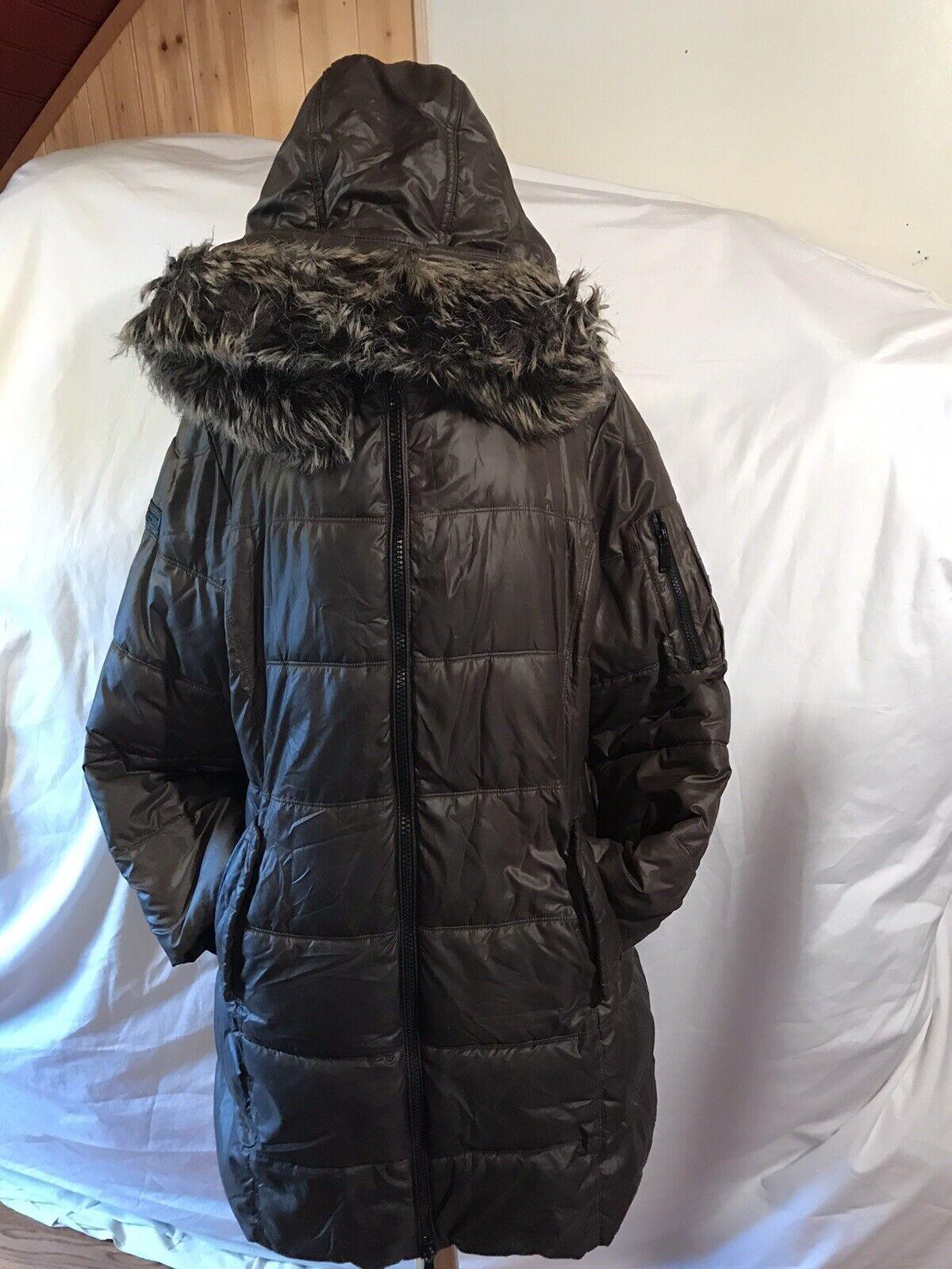 BCBGENERATION Women's Winter Hooded Long Coat Jacket Size XL