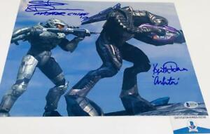 Steve-Downes-Keith-David-DUAL-signed-HALO-11x14-photo-BAS-H32748
