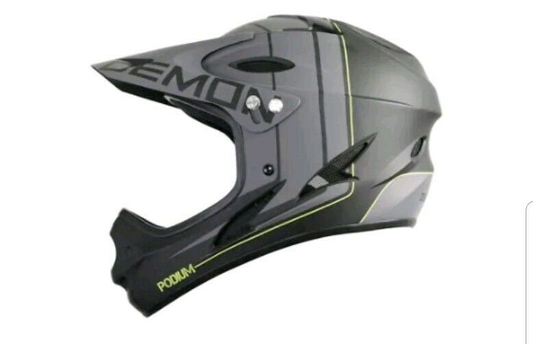 Demon Podium Full Face Mountain Cykel Helmet öppna låda nytt föremål, fri transport