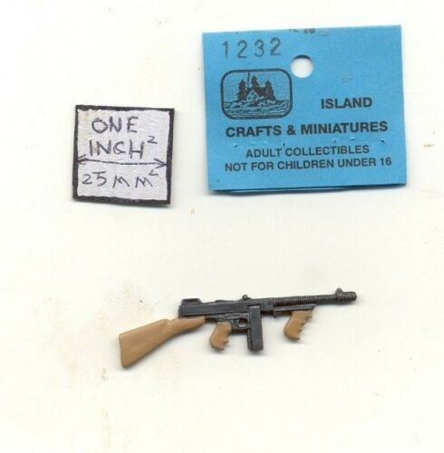 Thompson Sub machine Gun dollhouse 1//12 scale cast metal miniature ISL1232