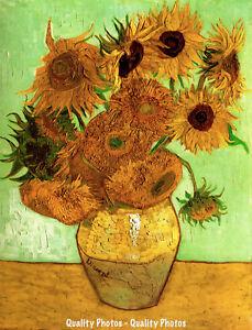 Sunflowers In Vase Arles 8 5x11 Photo Print Vincent Van Gogh Famous