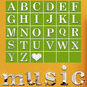 Buchstaben-Folie-Sticker-Spiegel-Basteln-Hobby-Deko-Aufkleber-DIY-Wandtattoo