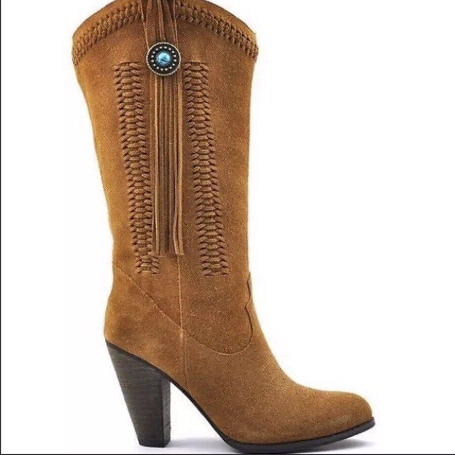 Reba Hades donna  65533;s Suede Leather 7.5 M Cowgirl stivali Tassel Turquoise occidentale  con il prezzo economico per ottenere la migliore marca
