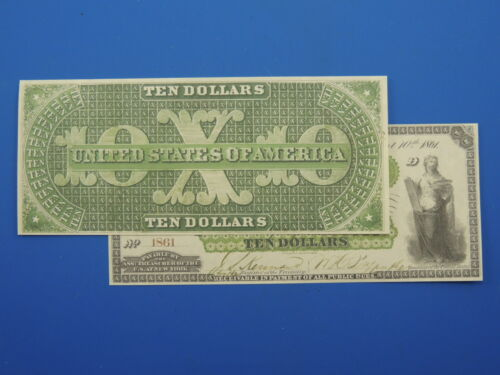Reproduction $10 1861 Greenback US Paper Money Currency Copy