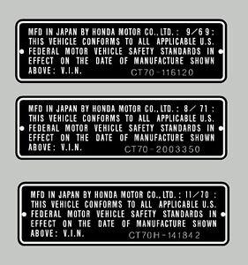 HONDA-CT70-CT70H-HEADTUBE-TAG-REPRO-DECAL